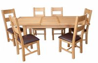 Melbourne Natural Oak Extending Dining Table